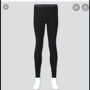 2 pairs of heat tech black longjohns